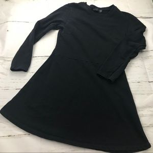 Zara long sleeve black sweatshirt mini dress